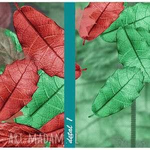 drzewa czerwone nowoczesny obraz drukowany