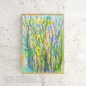 niesztampowe grafika ręcznie wykonany rysunek. drzewa - praca