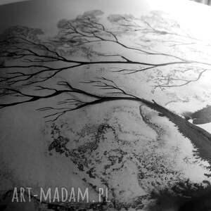 szare abstrakcja do salonu obraz 50x70 malowany ręcznie