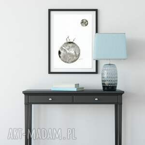 obraz ręcznie malowany białe a3 namalowany