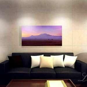 różowe afryka wschód słońca nad afrykańskim szczytem
