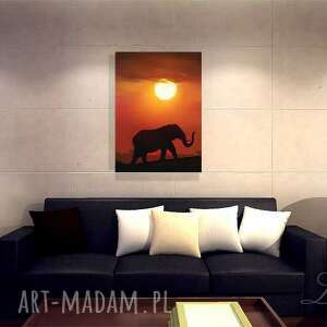 obraz pomarańczowe - afryka 2 - płótno, zachód