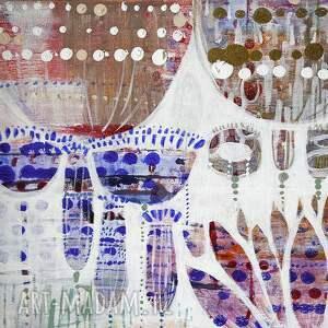 Obraz akryl na płótnie - kwiaty recznie