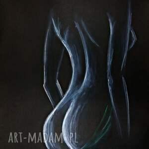 ART Krystyna Siwek obraz, akt do sypialni, 70 x 100 cm, akt kobiecy subtelny i zmysłowy, wykonany