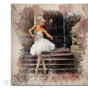 wyjątkowe obrazy obraz xxl baletnica 6 -80x80cm