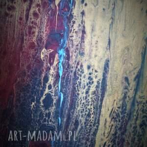 złote obrazy abstrakcja obraz do salonu - bogato zdobiony