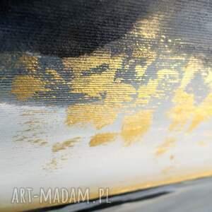 obrazy szare obraz do salonu - ręcznie malowany