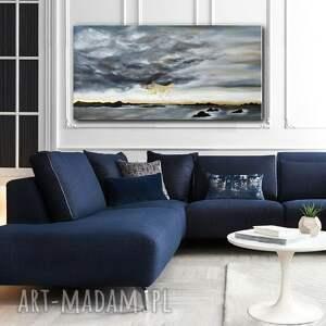 złote obrazy abstrakcyjny obraz do salonu - ręcznie malowany