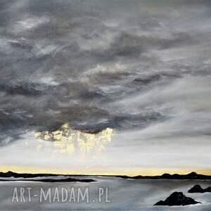czarne obrazy abstrakcyjny obraz do salonu - ręcznie malowany