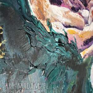 nowoczesny obrazy obraz do salonu - bogato zdobiony