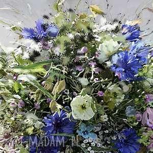 Obraz do salonu Koszyk z kwiatami, 40 x 50, elegancki minimalizm, grafika nowoczesne obrazy