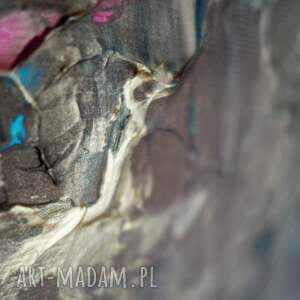 prezent obrazy turkusowe obraz do salonu - bogato zdobiony