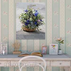 polne kwiaty obrazy nowoczesny obraz na płótnie, 40 x