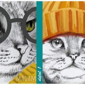 koty pomarańczowe obraz drukowany na płótnie kocia