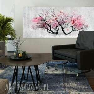 szare drzewo obraz drukowany na płotnie