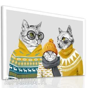 koty obraz drukowany na płótnie kocia