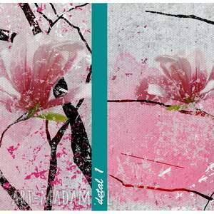 obraz różowe drukowany na płotnie