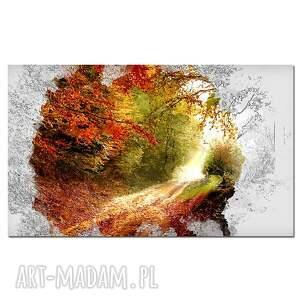 obraz pomarańczowe drzewo 44 - 120x70cm
