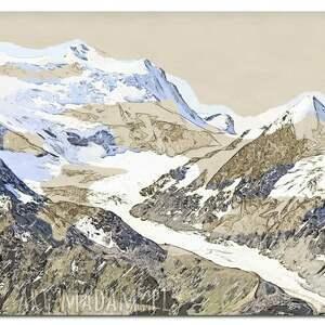 atrakcyjne obraz xxl góry 1 -120x70cm design