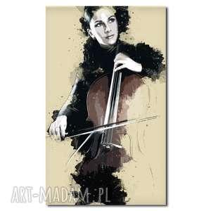 efektowne obrazy kobieta obraz xxl z wiolonczelą 1