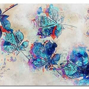 obrazy obraz xxl liście 1 - 120x70cm na