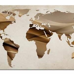 hand-made obrazy mapa obraz świata -dms7 - 120x70cm
