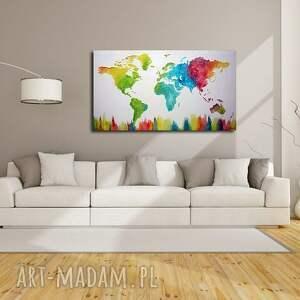 obrazy mapa obraz świata kolorowa 3d - 15