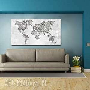 handmade obrazy mapa obraz świata -dms4 - 120x70cm
