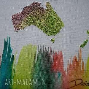 kolorowe obrazy mapa obraz świata kolorowa 3d - 15
