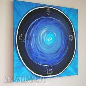 obraz obrazy niebieskie medytacyjny - strażnik snów