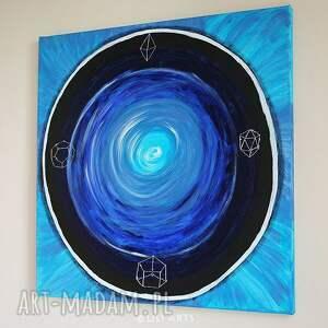 czarne obrazy mandala obraz medytacyjny - strażnik snów