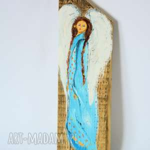 Obraz na drewnie - Anioł opiekuńczy - stróż