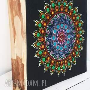 dot art obraz na drewnie mandala dot art