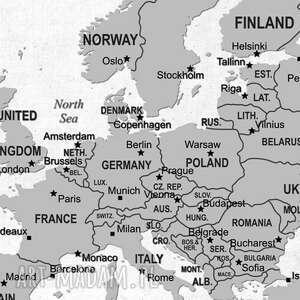 oryginalne obraz na korku mapa świata nr