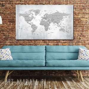 szare korkowy obraz na korku mapa świata nr