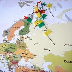 białe mapa obraz na korku świata nr