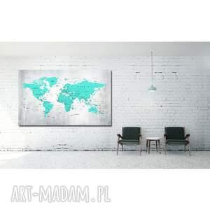 świata obraz na korku mapa nr