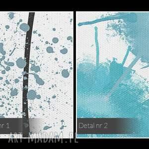 nowoczesny obraz na płótnie - kwiaty błękitny