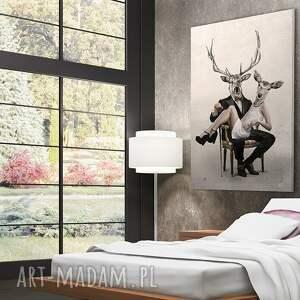 niepowtarzalne obraz na płótnie - 80x120cm deer