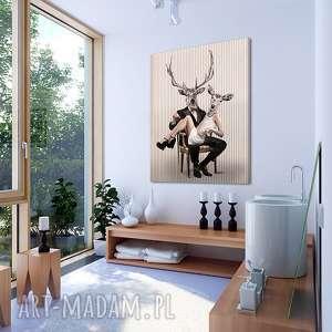 obraz na płótnie - 80x100cm deer