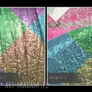obrazy abstrakcja obraz na płótnie - metaliczne usta