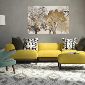 abstrakcja obraz na płótnie - drzewa brąz