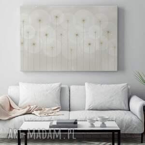 złote abstrakcja obraz na płótnie - kwiaty