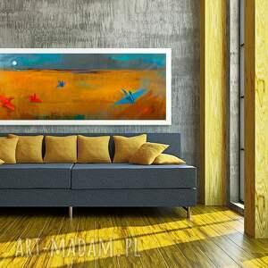 atrakcyjne abstrakcja obraz na płótnie 120x50cm - cztery
