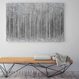 intrygujące obrazy abstrakcja obraz na płótnie - szary biały