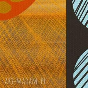 obraz obrazy pomarańczowe na płotnie - 150x60cm