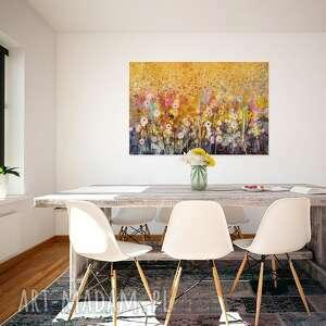 ogród pomarańczowe obraz na płótnie - kwiaty