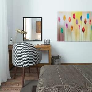 żółte kolory obraz na płótnie - abstrakcja