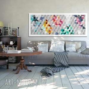 szare obraz na płotnie - 150x60cm