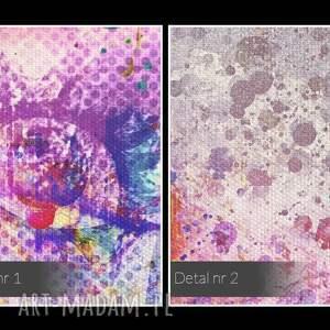efektowne obrazy abstrakcja obraz na płótnie - usta różowy